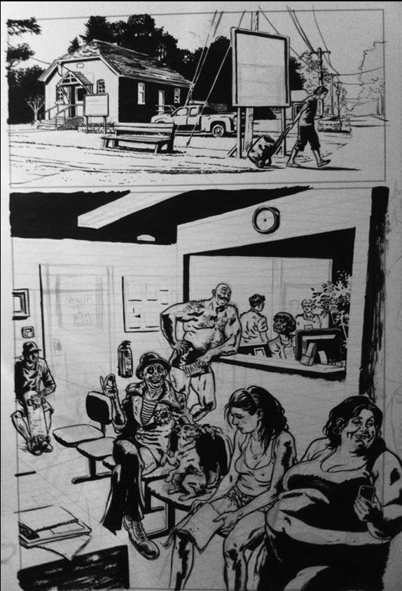 Early inkings on a full page of issue #2