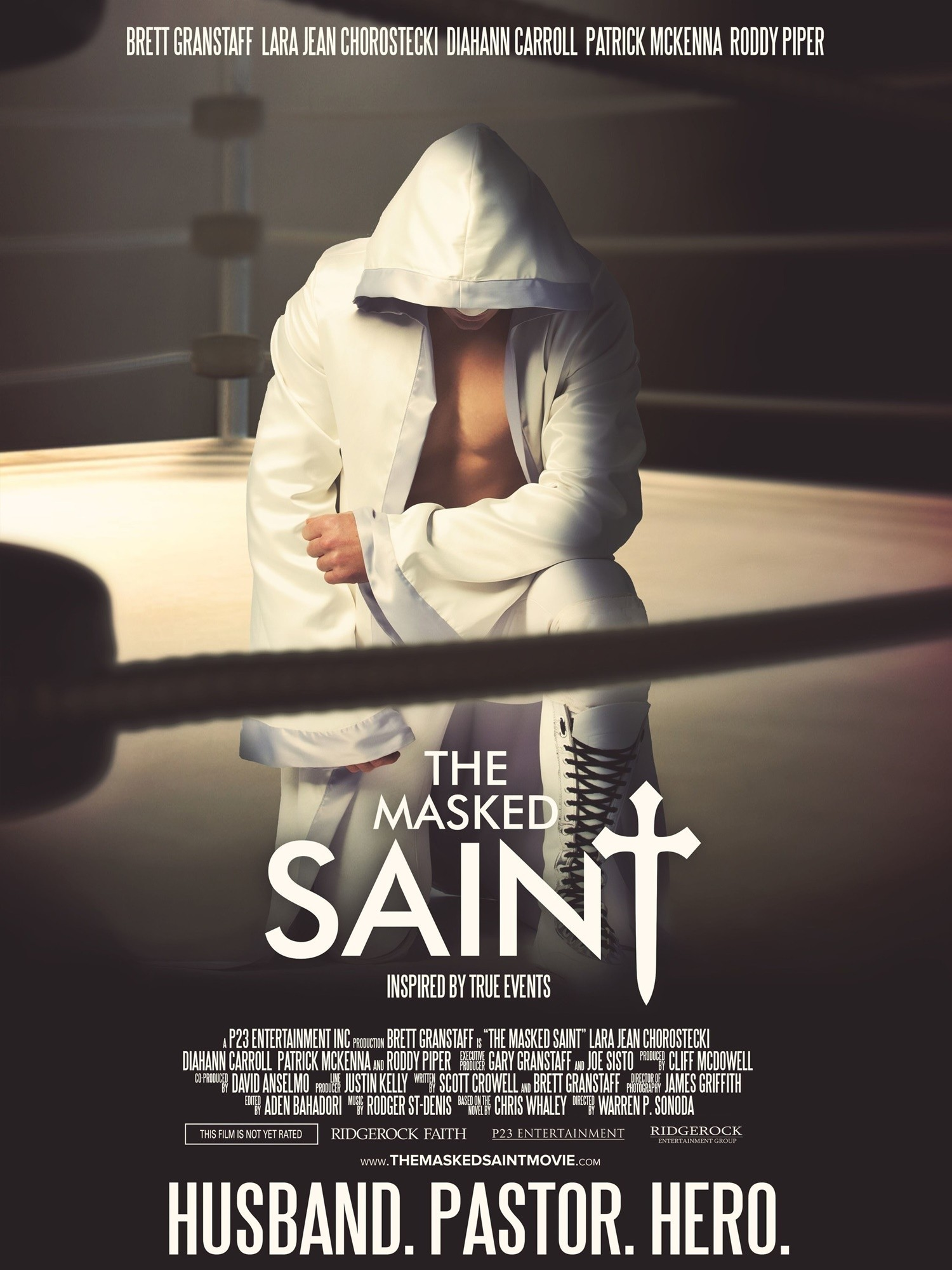 Ridgerock Entertainment Group and P23 Entertainment Inc. announce the January 8, 2016 theatrical release of THE MASKED SAINT through Freestyle Releasing. (PRNewsFoto/Ridgerock Entertainment Group)