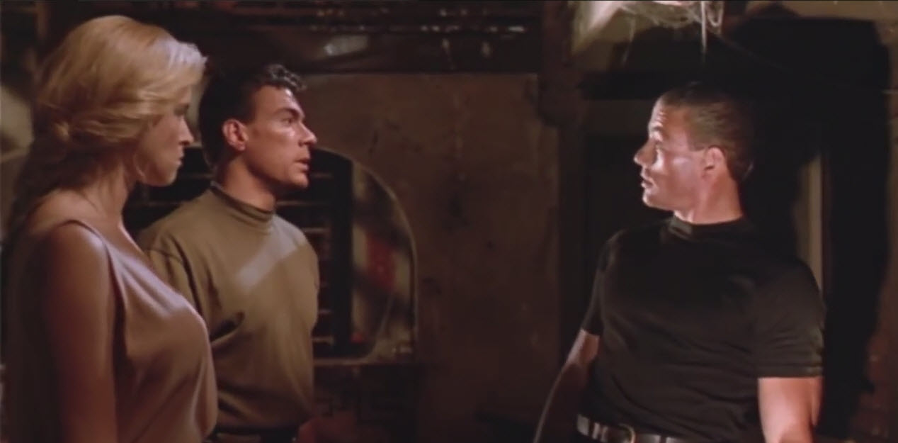 jean claude van damme and jcvd in double impact